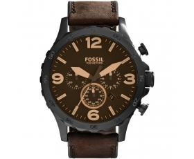 Fossil JR1487 Nate Brown Leather Men's Stainless Steel Wrist Watch