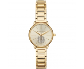 Michael Kors MK3838 Portia Stainless Steel Gold Dial Ladies Watch