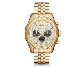 Michael Kors MK8494 Lexington Yellow Gold Men's Chronograph Watch