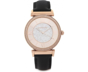 Michael Kors MK2376 Catlin Crystal Pave Rose Gold Dial Ladies Watch
