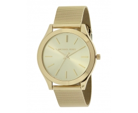 Michael Kors MK3282 Slim Runway Gold-Tone Mesh Ladies Watch