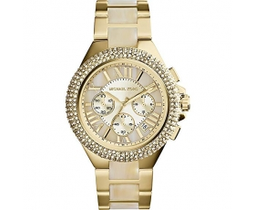 Michael Kors MK5902 Camille Gold Tone Horn Acetate Ladies Watch