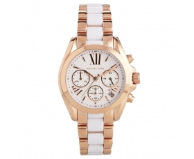 Michael Kors MK5907 Mini Bradshaw White Dial Two Tone Ladies Watch