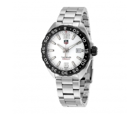 Tag Heuer waz1111.ba0875 Stainless Steel White Dial Men's Watch