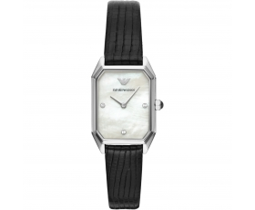 Emporio Armani AR11148 Two-Hand Black Leather Ladies Watches