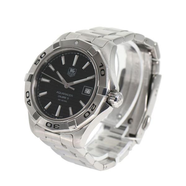 wholesale dealer c1e08 8d705 Pre Owned Tag Heuer WAP2010 Aquaracer Men's W9FN68 Steel Watch