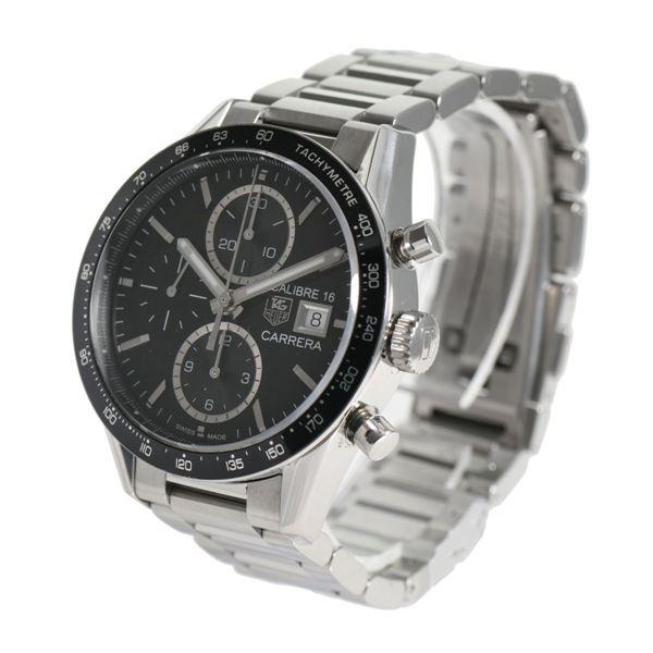 wholesale dealer 4b263 a812c Pre Owned Tag Heuer CV201AJ-0 Carrera Men's TVCCJ Steel Watch