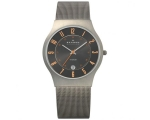 Skagen Watches 233XLTTMO Mens Grey Gunmetal Mesh..