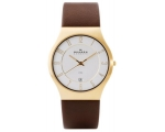 Skagen Men's 233XXLGL Steel Goldtone Case Brown ..