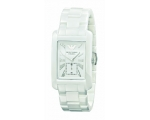 Emporio Armani AR1408 Gents White Ceramic Rectan..