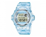 Casio Ladies Baby-G Digital Display Clear Blue W..