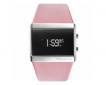 Unisex Mixtape Pink Leather Strap Watch   Black ..