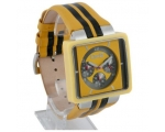 D&G Cream Yellow Leather Mens Fashion Watch DW0063