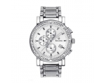Bulova Watches 96E03 Mens Diamond All Silver Chr..