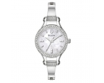 Bulova Women's 96L128 Crystal Bangle Mother-Of-P..
