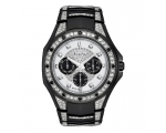 Bulova 98C102 Men's Black Crystal Stud Chronogra..