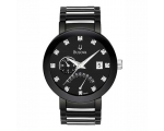 Bulova Men's 98D109 Diamond Accented Black Dial ..