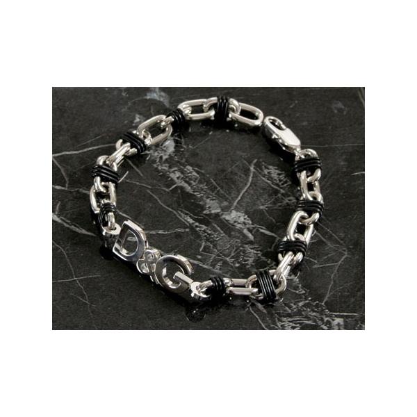 42fa4723 D&G Dolce & Gabbana Black & Silver Unisex Bracelet DJ0155