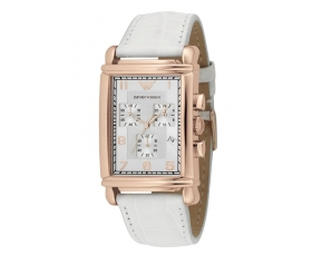 Emporio Armani AR0296 Ladies Rose Gold Chronograph Designer Watch