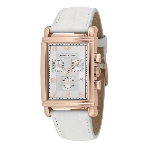 336f18b124 Emporio Armani AR0296 Ladies Rose Gold Chronograph Designer Watch