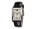 Armani Leather ar0487 Collection Silver-tone Dia..