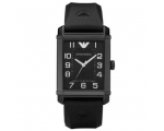 Emporio Armani AR0499 Mens Black Rubber Quartz W..