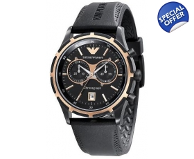 Emporio Armani AR0584 - Mens Sports Style Rubber Strap Watch