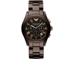 Armani AR1446 Brown Ceramica Quartz Mens Watch