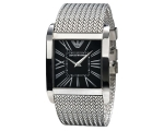 Pre Owned Armani AR2012 - Mens Black Dial Silver..