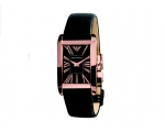 Emporio Armani Women's Rose Gold Dial Super Slim..