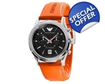 Emporio Armani AR5849 Mens Orange Sports Designe..