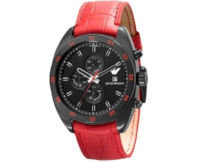 Emporio Armani ar5918 Mens Red Sportivo Chronograph Watch
