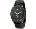 Armani Sport Mens AR5922 Chrono Green Dial Quart..