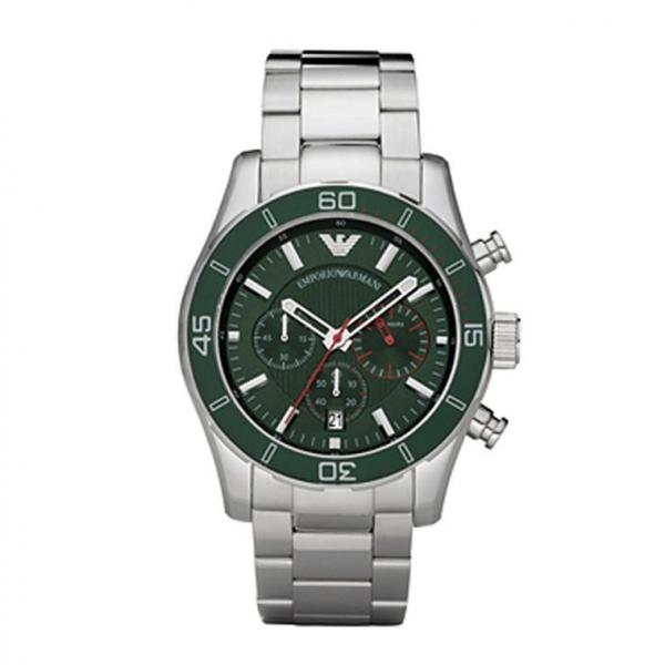 7f74243d Emporio Armani AR5934 - Mens Sportivo Green Chronograph Watch