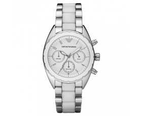 Emporio Armani AR5940 - Ladies Ex Display Sportivo Two Tone Watch