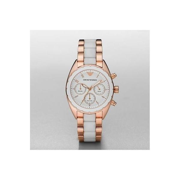 4c84e38f Emporio Armani AR5942 Women Rose Gold White Sportivo Watch