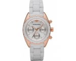 Emporio Armani AR5943 Ladies Sports Luxe White S..