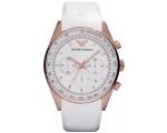 Emporio Armani AR5979 mens Chrono White & Rose G..
