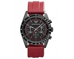 Emporio Armani AR6114 Tazio Men's Red Chronograp..