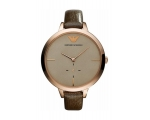Armani Classic Womens Gold Face Watch AR7306