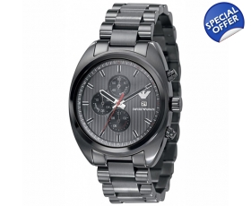 Emporio Armani AR5913 - Mens Sports Grey Ion Plated Bracelet Watch