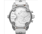 Diesel Bass Ass Chronograph White Dial White Lea..