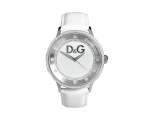 D&G Dolce & Gabbana Prime Time White Leather Max..