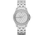 Armani Exchange Lady Hamilton Silver Quilted Dia..