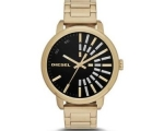 Diesel Black Dial Gold-tone Ladies Watch DZ5417