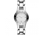 Armani Exchange White Crystals Dial Steel Ladies..