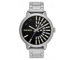 Diesel Black Dial Stainless Steel Ladies Watch D..