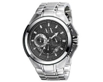 Armani AX Exchange Miami Black Dial Stainless St..