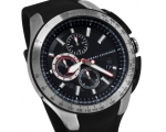 Armani Exchange Black Dial Black Silicone Rubber..