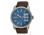 Diesel Blue Dial Brown Leather Strap Mens Watch ..